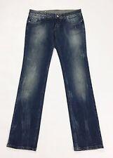 Jko jeans slim straight W28 tg 42 blu donna strappi usati vita bassa hot T2106