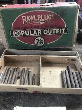 Vintage Rawlplug 'Popular' Outfit Complete With original Box tool & Instructions