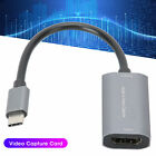 Video Capture Card TYPE  C HDMI to 4K 1080P Game Live Silver Gray Free Drive Z29A