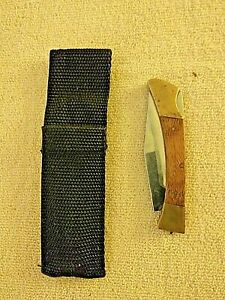 Vintage Lock Blade With Case, Made In China