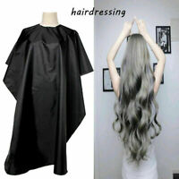 Adult Salon Hair Cut Hairdressing Barbers Cape Black U9G4 Prote Gown H2Y6