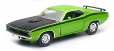 NEW RAY 1970 PLYMOUTH CUDA GREEN 1/24 Scale DIECAST CAR Model SS-71875GRN
