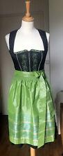 SPIETH & WENSKY Dirndl Kleid Tracht schwarz grün  Gr.34 wie neu