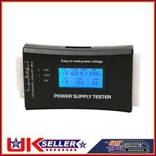 More details for digital lcd pc computer 20/24pins 4 psu atx btx itx sata hdd power supply tester