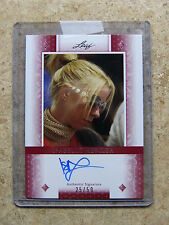2011 Leaf Razor Poker ISABELLE MERCIER Diamond Red version /50
