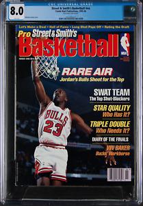 1995-96 Street & Smith's Magazine Michael Jordan CGC 8.0 POP1 HIGHEST GRADED