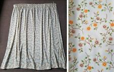 "Vintage St Michael 70s Orange & Brown Ditsy Floral Country Curtains 68""w x 54""l"