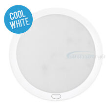 12v φ216mm LED Down Lights Ceiling Cool White/Blue Switch Caravan Interior Lamp
