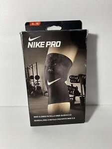 """NIKE PRO Closed Patella Knee Sleeve 2.0 XL 15""""-17"""" NEW Damaged Box"""