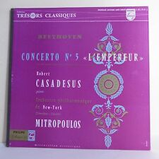"""33T BEETHOVEN Vinyle LP 12"""" CONCERTO N°5 """"L'EMPREUR"""" R. CASADESUS Piano New York"""
