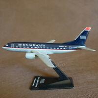 Scale 1/200 US Airways Boeing B737-300 Airplane Desktop Model Plane Toys 17CM