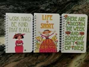 """Mary Englebreit NEW Lot of Three Spiral Notebooks 5 1/4"""" by 3 1/2"""""""