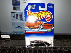 Hot Wheels Lamborghini Countach Blue Card #768 Black