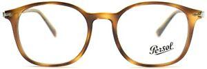Persol Damen Herren Brillenfassung PO3182-V 1043 51mm braun panto 247 12