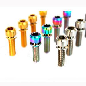 10pcs Titanium Alloy M6*16/18mm  Bolts Column chamfer Head Screws w/ Gasket
