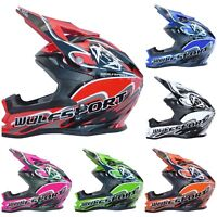 Wulfsport K2 Junior Cub Kids  Crash Helmet  Motorcross Quad Dirt Bike great deal