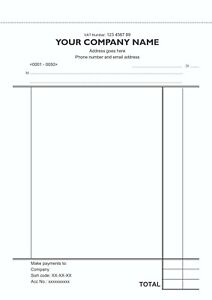 50 Personalised A5 Duplicate NCR Invoices in a Book / Sales Book / Numbered
