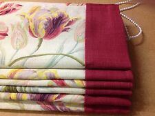 Laura Ashley Gosford Fabric Made To Measure Roman Blinds With Border Trim !