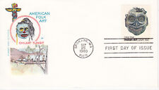 1980 FIRST DAY COVER FDC AMERICAN FOLK ART HOUSE OF FARNAM CHILKAT TLINGIT NATIV