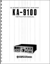 Kenwood KA-9100 Integrated Amplifier Owners Manual