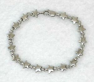 silver star link bracelet star bracelet hammered silver star bracelet bridesmaid gift star charm bracelet sterling silver star bracelet