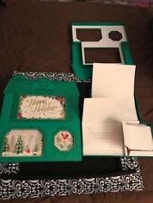 2 Hallmark Happy Holidays 24 ea Christmas Card Box Set w/self sealing envelopes