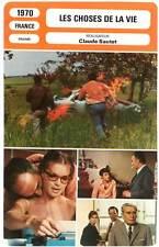 LES CHOSES DE LA VIE - Schneider,Piccoli(Fiche Cinéma) 1970 - The Things of Life