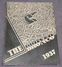 Hastings College 1937 Yearbook (The Bronco), Hastings Nebraska