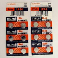 12 NEW LR44 MAXELL A76 L1154 AG13 357 SR44 303 BATTERY