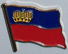 Liechtenstein Country Flag Enamel Pin Badge