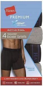 "Hanes® Premium® Men's X-temp Boxer Briefs 4pk ""Active Comfort & Cooling"""