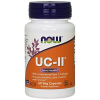 NOW® UC•II Collagen Joint Health - 60 Vcaps®, Fresh, Free Shipping, US MADE