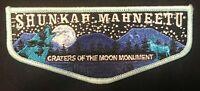 SHUNKAH MAHNEETU OA LODGE 407 BSA GRAND TETON CRATERS OF THE MOON MONUMENT FLAP