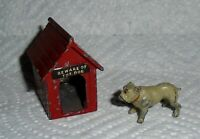 "Vintage Lead Johillco (John Hill & Co) ""Dog Kennel (Dog House) & Bull Dog"" EX"