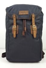 BNWT Barbour Waxed Canvas and Leather Backpack (RRP £149) In Navy