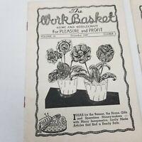 Vintage The Work Basket Home Needlecraft Magazine 1947 1948 Kansas City MO Ads