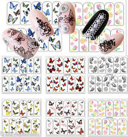Nail Art Stickers Nail Art Water Decals Transfers Butterflies Butterfly