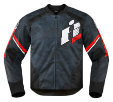 ICON Overlord PRIMARY Perforated Textile Motorcycle Jacket (Red/Black Camo) XL