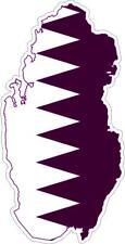 Sticker car moto map flag vinyl outside wall decal macbbook qatar katar
