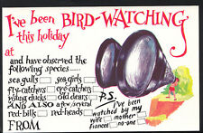 Tickacard Greetings Postcard - I've Been Bird Watching This Holiday R36