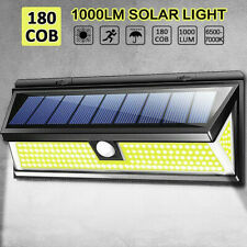 180 LED COB Solar Wall Light PIR Motion Sensor Highlight Path Waterproof Lamp