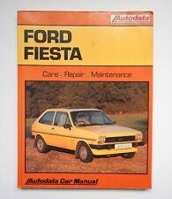 Autodata FORD FIESTA 1976 to 1983 Repair Maintenance Workshop Car Manual 1988