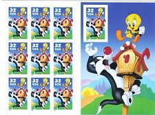 U.S. #3205 1998 32 Cent  Sylvester and Tweety Imperf Pane  MNH Superb  SCV $15