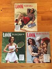 LOOK Magazine 1940 Lot of 3 Issues No Labels; FDR, HITLER, JOE LOUIS