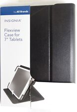 "Insignia™ - FlexView Folio Case for Most 7"" Tablets - Black"