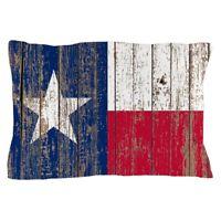 "CafePress Barn Wood Texas Flag Standard Size Pillow Case, 20""x30"" (1731743769)"