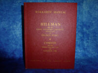 HILLMAN Mk VIII WORKSHOP MANUAL HB Book by Rootes Group & COMMER COB WSM108 1956