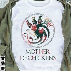 Mother Of Chickens Mother's Day Tshirt Women White M - 3XL