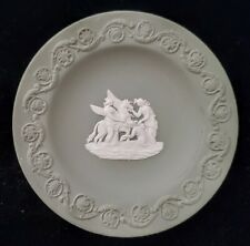 Vtg Wegewood Made in England Mini Plate Pin Dish Pegasus 3 Graces Jasperware