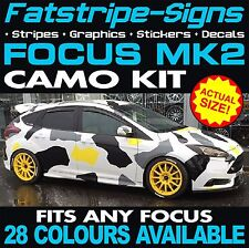 FORD FOCUS MK2 GRAPHICS CAMO STICKERS DECALS BONNET ROOF CAMOUFLAGE ST RS ZETEC